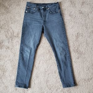 Levi's 501 Skinny Stretch in Coal Black 27